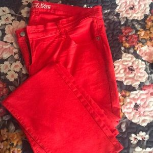 """Cute red """"Rock Star"""" Jeans!"""